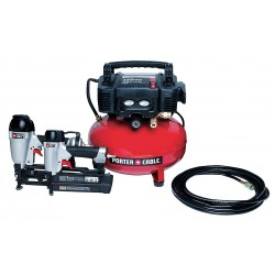 Porter Cable - PCFP12656 - 0.8 HP, 115VAC, 6 gal. Portable Air Compressor/Nailer Combo Kit, 150 psi