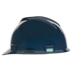 MSA - 802972 - Front Brim Hard Hat, 4 pt. Ratchet Suspension, Dark Blue, Hat Size: 6-1/2 to 8