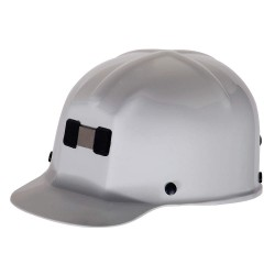 MSA - 475336 - Front Brim Hard Hat, 4 pt. Ratchet Suspension, White, Hat Size: 6-1/2 to 8
