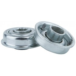Tycon Power Systems - 1126226123 - Zinc Plated Steel Hex Conveyor Bearing with 1.130 O.D., 5/16 Bore Dia., and 45 lb. Dynamic Load Ca