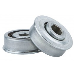 Tycon Power Systems - 1150226123 - Zinc Plated Steel Hex Conveyor Bearing with 1.152 O.D., 7/16 Bore Dia., and 75 lb. Dynamic Load Ca