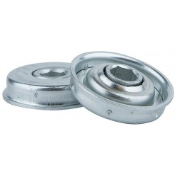 Tycon Power Systems - 119226123 - Zinc Plated Steel Hex Conveyor Bearing with 1.753 O.D., 7/16 Bore Dia., and 140 lb. Dynamic Load C