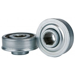 Tycon Power Systems - 2100226123 - Zinc Plated Steel Hex Conveyor Bearing with 2.000 O.D., 5/8 Bore Dia., and 225 lb. Dynamic Load Ca