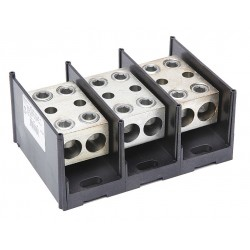 Burndy - BDBLHC225003 - Burndy BDBLHC225003 Power Distribution Block, 3-Pole, (2) 4 - 500 Run/Tap
