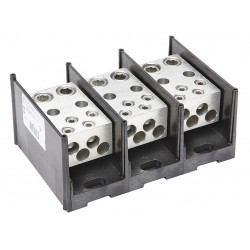 Burndy - BDBLHC245003 - Burndy BDBLHC245003 Power Distribution Block, 3-Pole, (2) 4 - 500 Run, (4) 6 - 4/0 Tap