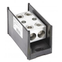 Burndy - BDBLHC225001 - Burndy BDBLHC225001 Power Distribution Block, 1-Pole, (2) 4 - 500 Run/Tap