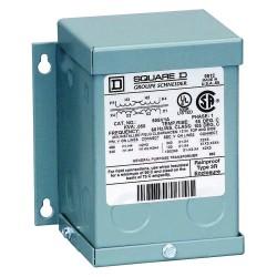 Square D - 250SV51B - Wall-Mount 600VAC General Purpose Transformer, 250VA, 120/240VAC Output Voltage