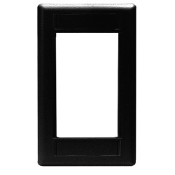 Hubbell - IMF1BK - Black Wall Plate, Plastic, Number of Gangs: 1