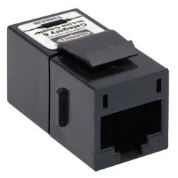Hubbell - SFC6BK - Hubbell SFC6BK Cat.6 Inline Keystone Coupler - Black