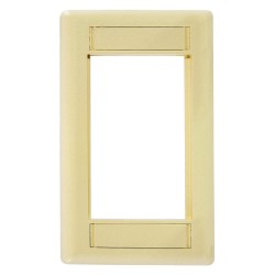 Hubbell - IMF1EI - iStation Modular Plate Frame, Single Gang, Electric Ivory