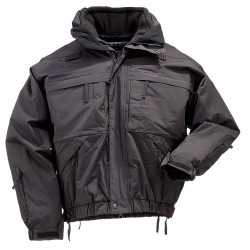 5.11 Tactical - 48017 - 5 in 1 Jacket, XS Fits Chest Size 30 to 32, Black Color