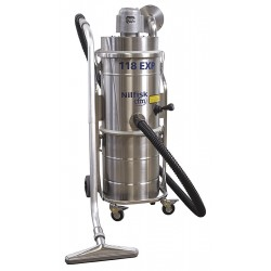 Nilfisk - 1-118/50DAXXXKT - 13 gal. Industrial Series Explosion Proof Dry Vacuum, 130 cfm, 1-5/16 HP, 10 Amps, HEPA Filter Type