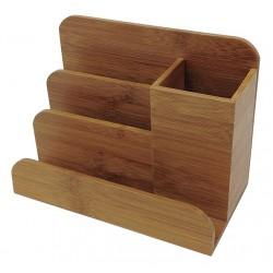 Buddy Products - BB-024 - Desktop Organizer, Bamboo