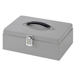 Buddy Products - 0513 - Cash Box, 7 Compartments, Platinum