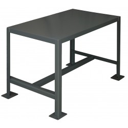 Durham mt243624 2k195 fixed height work table steel for Table th fixed width