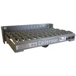Cotterman - FUS101SA3C1P1 - Steel Serrated Spring Loaded Fold-Up Step, 4H x 15L x 10-3/4W