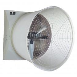 Schaefer Systems - G573CF112G-3-HV - 208-230/460V Cone, Belt Drive Agricultural Exhaust Fan, 1-1/2HP