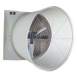 Schaefer Systems - G575CF112G-3-HV - 208-230/460V Cone, Belt Drive Agricultural Exhaust Fan, 1-1/2HP