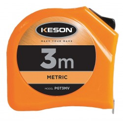 Keson - PGT3MV - 3m Steel Metric Tape Measure, Orange