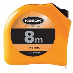 Keson - PGT8MV - 8m Steel Metric Long Tape Measure, Orange