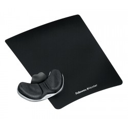 Fellowes - 9180301 - Fellowes Mouse Pad Palm Support - 11 x 9 x 0.8 Dimension - Black - Fabric, Memory Foam