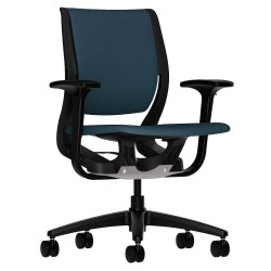 HON - HR1W.ABLK.H.ON.CU90.T - Cerulean Fabric Desk Chair 19 Back Height, Arm Style: Adjustable