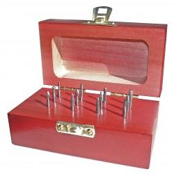 Monster Tool - 310-110002 - Carbide Bur Set, Single Cut, 1/8 in, 12 pc