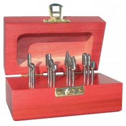 Monster Tool - 310-110015 - Carbide Bur Set, Single Cut, 1/4 in, 9 pc