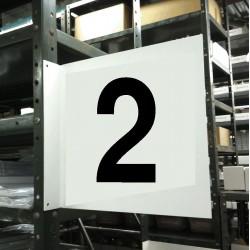Stranco - HPS-2W1412-2 - Numbers, No Header, Plastic, 12 x 12, Hanging, Not Retroreflective