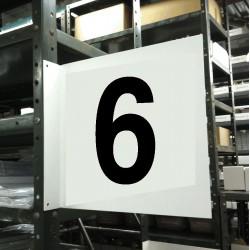 Stranco - HPS-2W1412-6 - Numbers, No Header, Plastic, 12 x 12, Hanging, Not Retroreflective