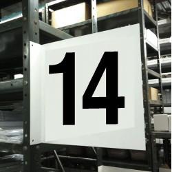 Stranco - HPS-2W1412-14 - Numbers, No Header, Plastic, 12 x 12, Hanging, Not Retroreflective