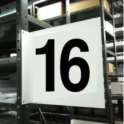 Stranco - HPS-2W1412-16 - Numbers, No Header, Plastic, 12 x 12, Hanging, Not Retroreflective