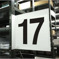 Stranco - HPS-2W1412-17 - Numbers, No Header, Plastic, 12 x 12, Hanging, Not Retroreflective