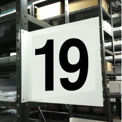 Stranco - HPS-2W1412-19 - Numbers, No Header, Plastic, 12 x 12, Hanging, Not Retroreflective