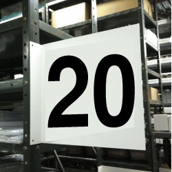 Stranco - HPS-2W1412-20 - Numbers, No Header, Plastic, 12 x 12, Hanging, Not Retroreflective