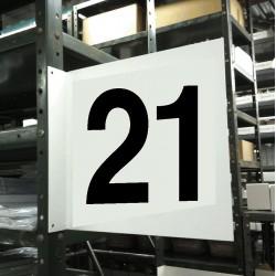 Stranco - HPS-2W1412-21 - Numbers, No Header, Plastic, 12 x 12, Hanging, Not Retroreflective