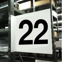 Stranco - HPS-2W1412-22 - Numbers, No Header, Plastic, 12 x 12, Hanging, Not Retroreflective