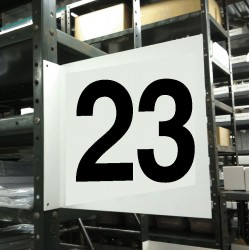 Stranco - HPS-2W1412-23 - Numbers, No Header, Plastic, 12 x 12, Hanging, Not Retroreflective