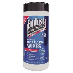 Endust - END11506 - Anti-Static Wipes, Recommended For Computer Screens, LCD/Plasma TV