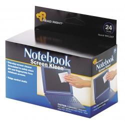 Read Right - REARR1217 - Read Right Notebook ScreenKleen Wipes (Box of 24)