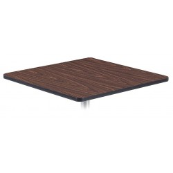 Virco - U3636WAL078BLK01BLK01 - Square Cafe Top, Walnut, Depth: 36