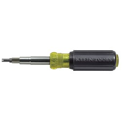 Klein Tools - 32527 - Klein Tools 11-in-1 Screwdriver/Nut Driver - Schrader Valve Core Tool - 7.04 oz - Cushion Grip, Comfortable Grip, Chrome Plated, Corrosion Resistant, Twist Resistant, Heat Treated