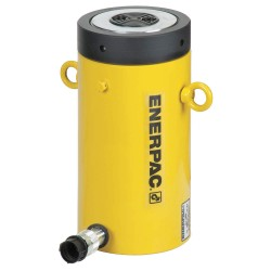 "Enerpac - CLL5010 - 50 tons Single Acting Lock Nut Steel Hydraulic Cylinder, 9-27/32"" Stroke Length"