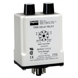Macromatic - TR-50228-08 - Time Delay Relay, 24VAC/DC Coil Volts, 10A Contact Amp Rating (Resistive), Contact Form: DPDT