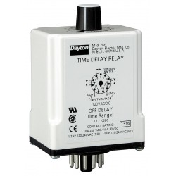 Macromatic - TR-51628-08 - Time Delay Relay, 24VAC/DC Coil Volts, 10A Contact Amp Rating (Resistive), Contact Form: DPDT