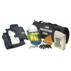 Chicago Protective Apparel - AG-12 -L - 12.0 cal./cm2 Arc Flash Protection Clothing Kit, 2-HRC, Navy, L