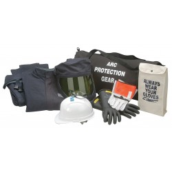 Chicago Protective Apparel - AG-43-2XL - 43.0 cal./cm2 Arc Flash Protection Clothing Kit, 4-HRC, Navy, 2XL