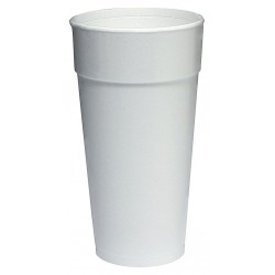 Dart Container - 24J16 - 24 oz. Disposable Hot Cup, Foam, White, PK 500