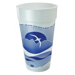 Dart Container - 20J16H - 20 oz. Disposable Hot Cup, Foam, Blue/White, PK 500