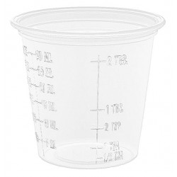 Dart Container - 125PCG - 1-1/4 oz. Disposable Cold Cup, Plastic, Clear, PK 2500